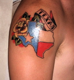 Arm Tattoo of Texas